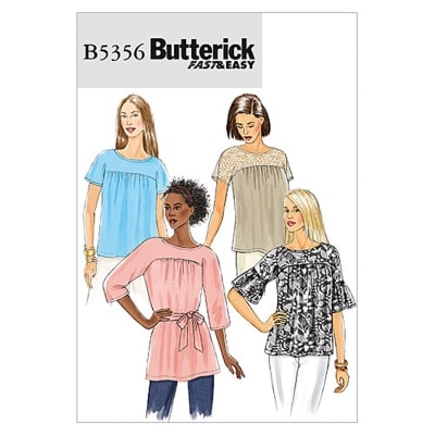 Butterick Misses' Top And Sash Pattern B5356 Size 0Y0