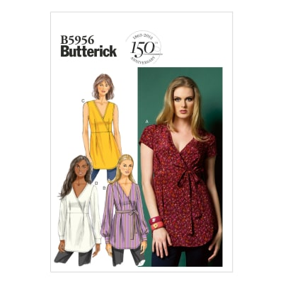 Butterick Misses' Top and Belt Pattern B5956 Size A50