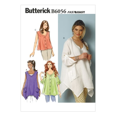 Butterick Misses' Top Pattern B6056 Size 0Y0