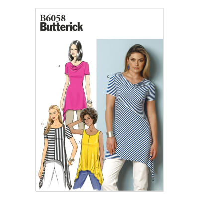 Butterick Misses' Tunic Pattern B6058 Size A50