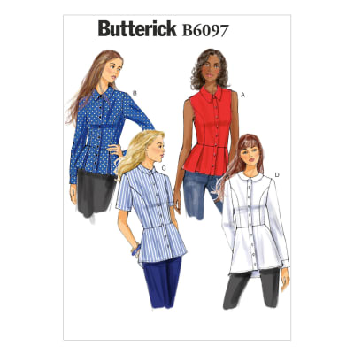 Butterick Misses' Shirt Pattern B6097 Size A50