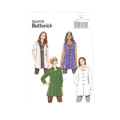 Butterick Misses' Tunic Pattern B6098 Size B50