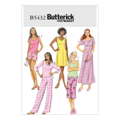 Butterick B5432 Misses'/Misses' Petite Top, Gown, Shorts and Pants Pattern Size 0Y0