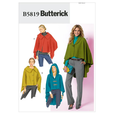 Butterick Misses' Wrap and Cape Pattern B5819 Size 0Y0