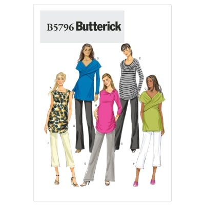 Butterick Misses' Maternity Top and Pants Pattern B5796 Size B50