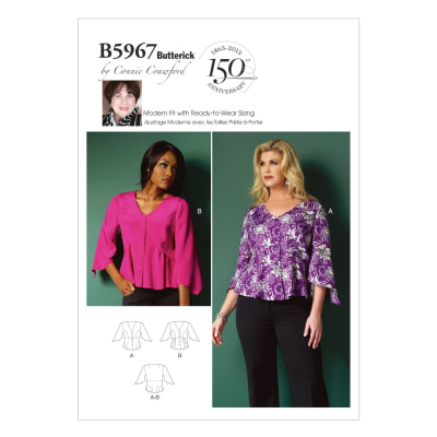 Butterick Misses'/Women's Top Pattern B5967 Size MIS