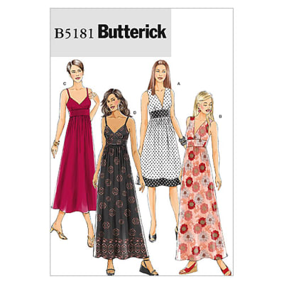 Butterick Misses' Dress Pattern B5181 Size BB0