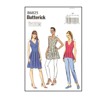 Butterick Misses' Top, Tunic and Dress Pattern B6025 Size B50