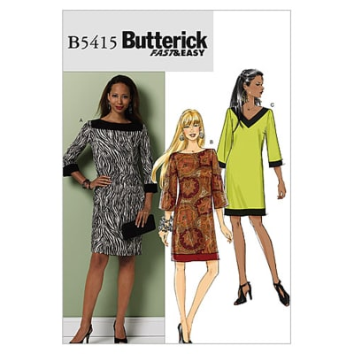 Butterick Misses'/Misses' Petite Dress Pattern B5415 Size 0Y0