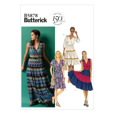 Butterick Misses' Dress Pattern B5878 Size A50