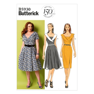 Butterick Misses/Misses' Petite/Women's/Women's Petite Dress Pattern B5930 Size B50