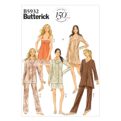 Butterick Misses' Camisole, Dress, Top, Shorts and Pants Pattern B5932 Size 0Y0
