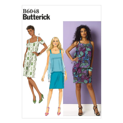 Butterick Misses' Dress Pattern B6048 Size B50