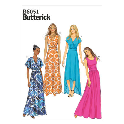 Butterick Misses' Dress Pattern B6051 Size B50