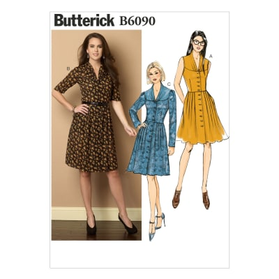 Butterick Misses' Dress and Belt Pattern B6090 Size B50