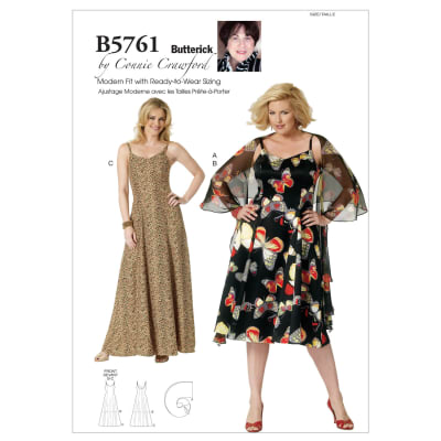 Butterick Misses'/Women's Wrap and Dress Pattern B5761 Size MIS