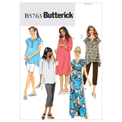 Butterick Misses'/Women's Maternity Top, Dress, Belt, Shorts and Pants Pattern B5763 Size B50