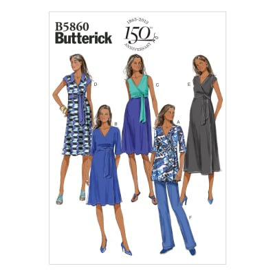 Butterick Misses' Maternity Top, Dress and Pants Pattern B5860 Size B50
