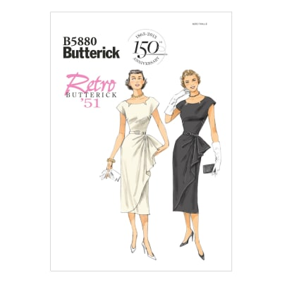 Butterick Misses' /Misses' Petite Dress and Belt Pattern B5880 Size A50