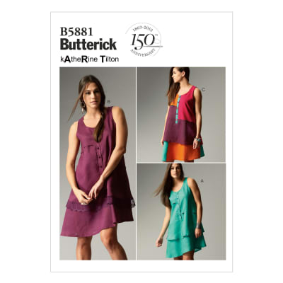 Butterick Misses' Dress Pattern B5881 Size B50