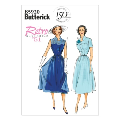 Butterick Misses' Dress, Belt and Slip Pattern B5920 Size A50