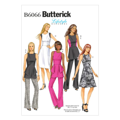 Butterick Misses'/Misses' Petite Tunic, Dress and Pants Pattern B6066 Size A50