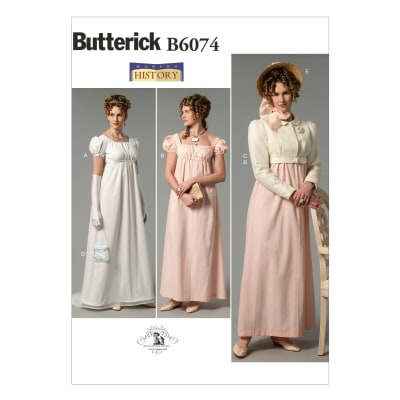 Butterick Misses' Dress, Jacket, Purse and Hat Trim Pattern B6074 Size A50