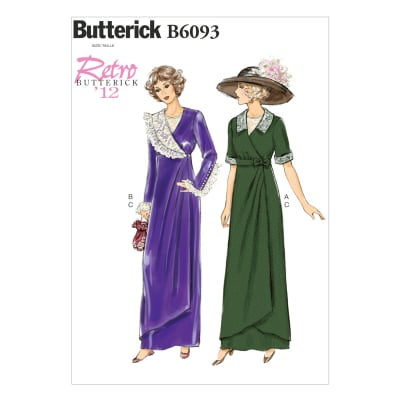 Butterick Misses' Dress, Belt and Bib Pattern B6093 Size A50