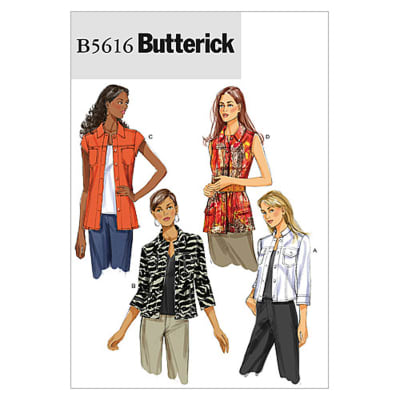 Butterick Misses' Jacket Pattern B5616 Size AA0
