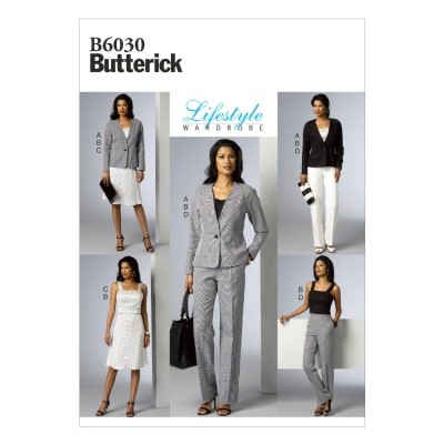 Butterick Misses' Jacket, Vest, Top, Skirt and Pants Pattern B6030 Size A50