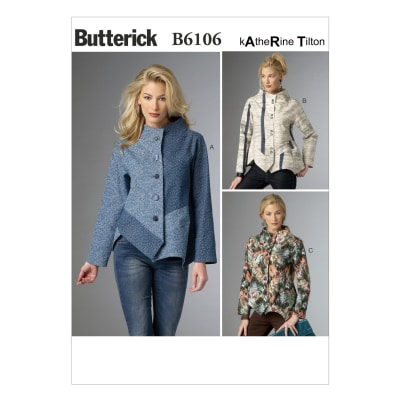 Butterick Misses' Jacket Pattern B6106 Size 0Y0