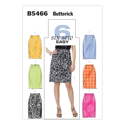 Butterick B5466 Misses' Skirt and Belt Pattern BB (Sizes 8-14)