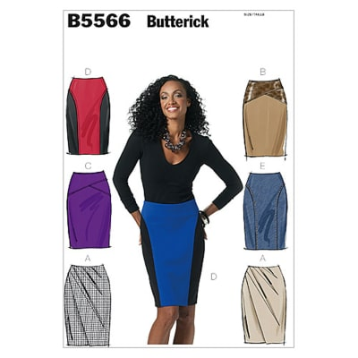 Butterick Misses' Skirt Pattern B5566 Size AA0