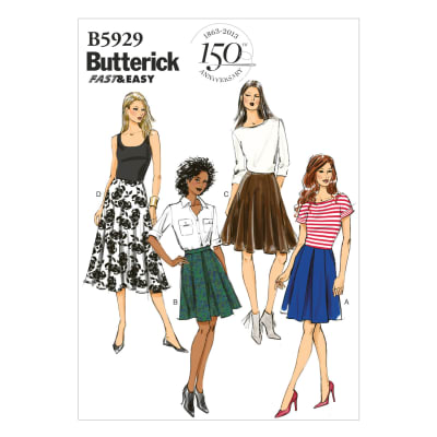 Butterick Misses' Skirt Pattern B5929 Size A50