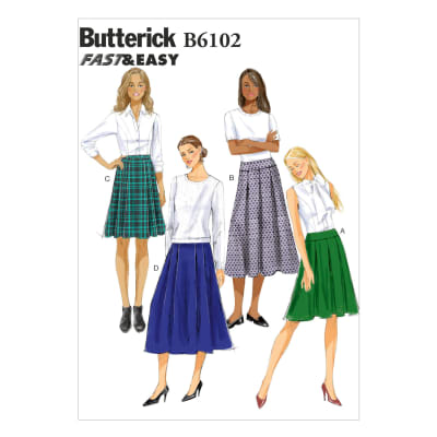 Butterick Misses' Skirt Pattern B6102 Size A50