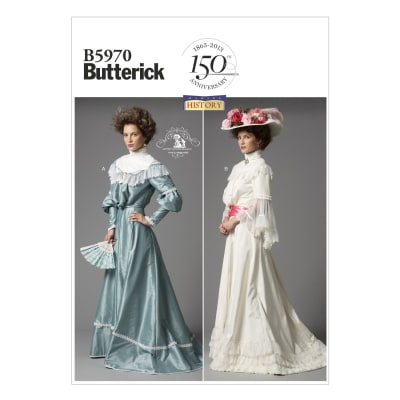 Butterick Edwardian Misses' Top and Skirt Pattern B5970 Size B50