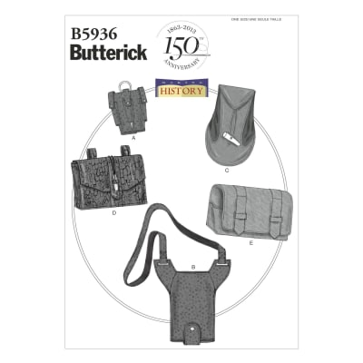 Butterick Gaunlet, Water Bottle Carrier and Pouches Pattern B5936 Size OSZ