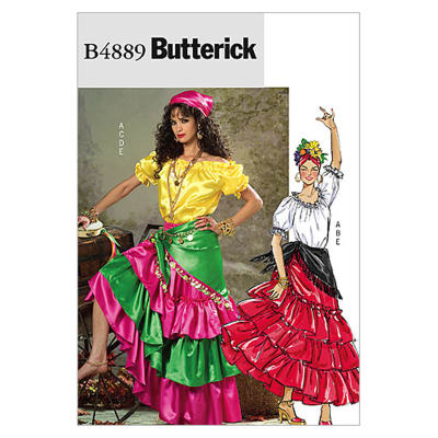 Butterick Misses' Costume Pattern B4889 Size 0Y0