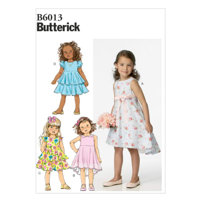 Butterick Children's/Girls' Dress Pattern B6013 Size CDD