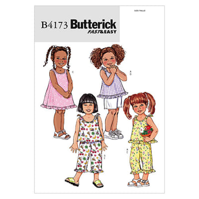 Butterick Toddlers'/Children's Top, Dress, Shorts and Pants Pattern B4173 Size 010