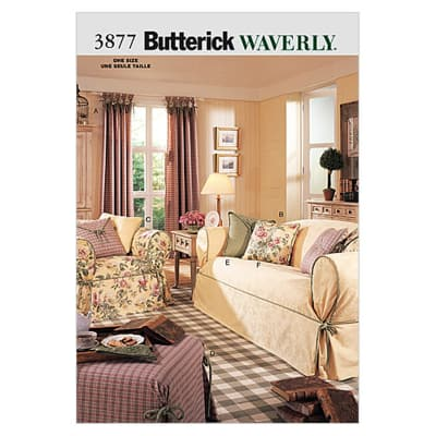 Butterick Drapes, Slipcovers & Pillows Pattern B3877 Size OSZ