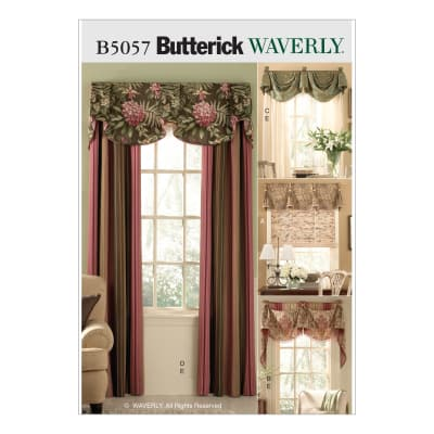 Butterick Window Treatments Pattern B5057 Size OSZ