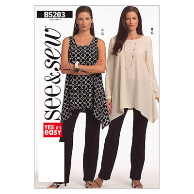 Butterick Misses'/Misses' Petite Tunic and Pants Pattern B5203 Size 0A0