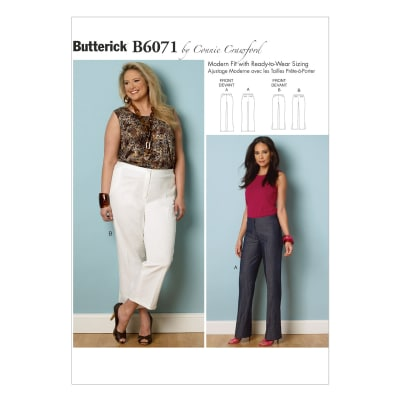 Butterick Misses'/Women's Pants Pattern B6071 Size MIS