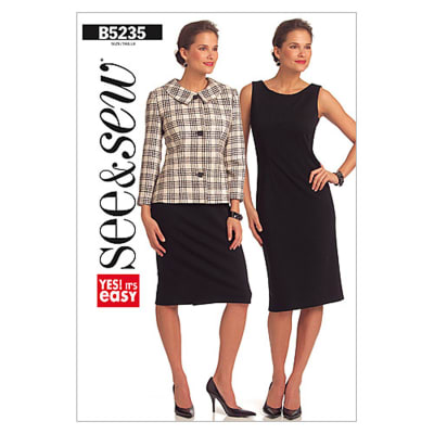 Butterick Misses'/Misses' Petite Jacket and Dress Pattern B5235 Size 0A0