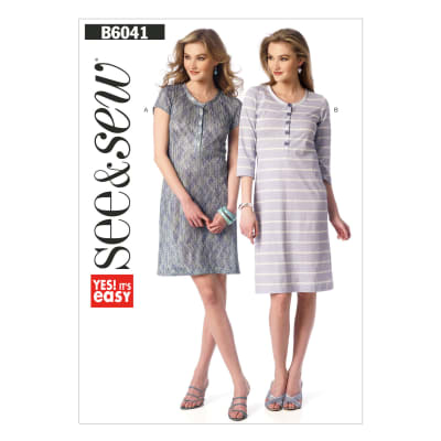 Butterick Misses' Dress Pattern B6041 Size 0A0
