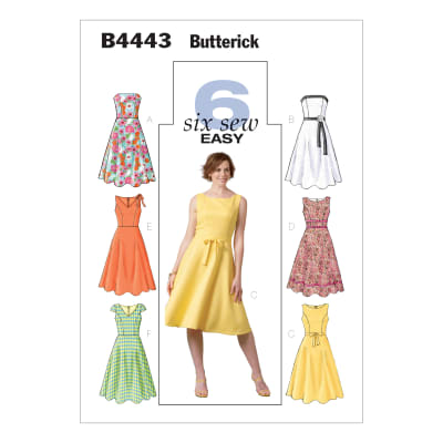 ButterickB4443 Misses'/Misses' Petite Dress Pattern BB (Sizes 8-14)