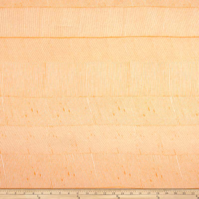 Designer Tissue Rayon Jersey Knit Micro Stripes Orange