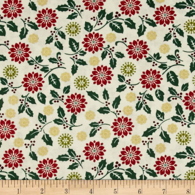 Ornamental Splendor Metallic Poinsetta Splendor White/Multi