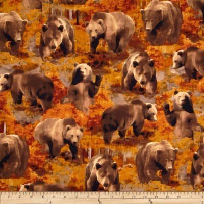 Kanvas The Great North Wilderness Flannel Brown Bear Autumn